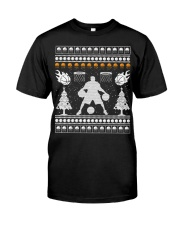 Basketball ugly christmas sweater Classic T-Shirt tile