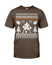 Basketball ugly christmas sweater Premium Fit Mens Tee tile