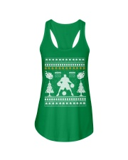 Basketball ugly christmas sweater Ladies Flowy Tank tile