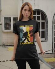 Bigfoot Social Distancing Champion Classic T-Shirt apparel-classic-tshirt-lifestyle-19