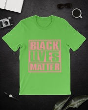 Pink and Green Black Lives Matter Classic T-Shirt lifestyle-mens-crewneck-front-16