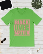 Pink and Green Black Lives Matter Classic T-Shirt lifestyle-mens-crewneck-front-17