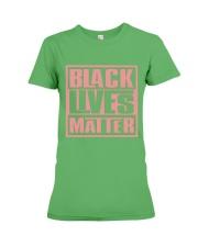 Pink and Green Black Lives Matter Premium Fit Ladies Tee thumbnail