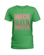 Pink and Green Black Lives Matter Ladies T-Shirt thumbnail