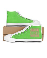 Pink and Green Black Lives Matter Women's High Top White Shoes thumbnail