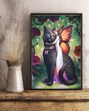 Black cat love 11x17 Poster lifestyle-poster-3