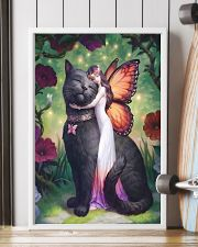 Black cat love 11x17 Poster lifestyle-poster-4
