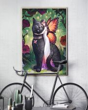 Black cat love 11x17 Poster lifestyle-poster-7