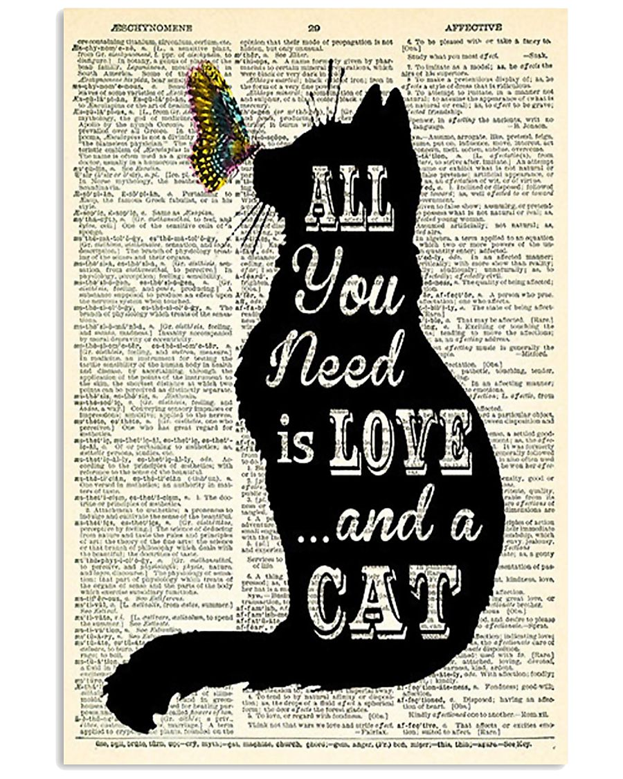 ALL YOU NEED IS LOVE CAT 11x17 Poster