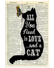 ALL YOU NEED IS LOVE CAT 11x17 Poster front