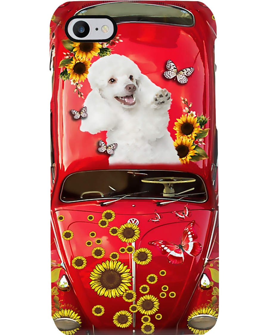 Phone Case - Poodle Sunflower Phone Case