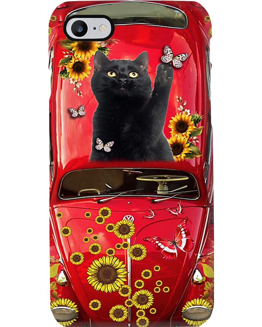 Phone Case - Cat Sunflower Phone Case