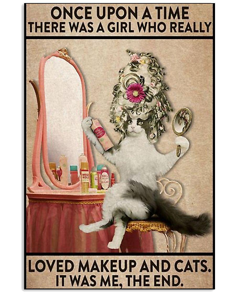 cat makeup 11x17 Poster