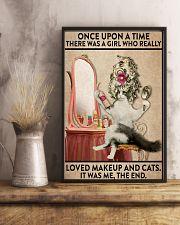 cat makeup 11x17 Poster lifestyle-poster-3