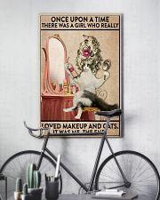 cat makeup 11x17 Poster lifestyle-poster-7