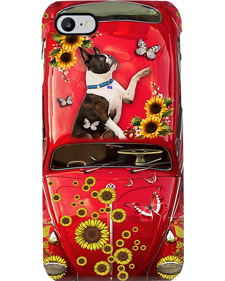 Phone Case - Boston Terrier Sunflower Phone Case