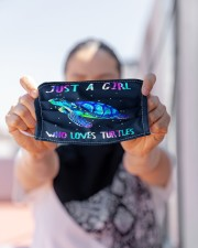 just a girl who loves turtles Cloth face mask aos-face-mask-lifestyle-07