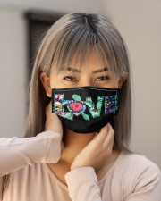 Turtle Mask love Cloth face mask aos-face-mask-lifestyle-18