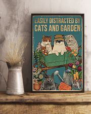 easily distracted by cats and garden 11x17 Poster lifestyle-poster-3