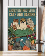 easily distracted by cats and garden 11x17 Poster lifestyle-poster-4