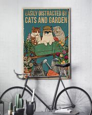 easily distracted by cats and garden 11x17 Poster lifestyle-poster-7