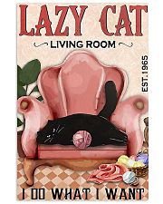 Lazy cat living room 11x17 Poster front