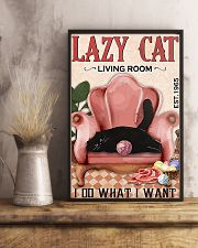 Lazy cat living room 11x17 Poster lifestyle-poster-3