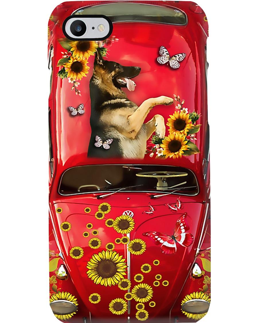 Phone Case - German Shepherd Sunflower Phone Case