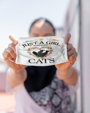 Just a girl who love cats Cloth face mask aos-face-mask-lifestyle-07