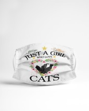 Just a girl who love cats Cloth face mask aos-face-mask-lifestyle-22