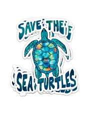 Save the Turtle Sticker - 4 pack (Vertical) front