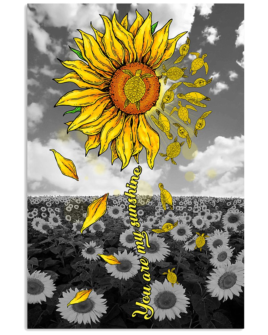 TURTLE SUNFLOWER 11x17 Poster