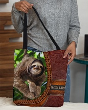Sloth lady All-Over Tote All-over Tote aos-all-over-tote-lifestyle-front-10