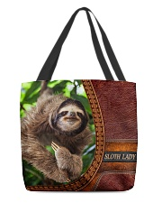 Sloth lady All-Over Tote All-over Tote back