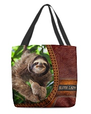 Sloth lady All-Over Tote All-over Tote front