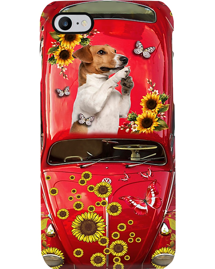 Phone Case - Jack Russell Terrier Sunflower Phone Case
