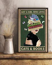who loves cas and books 11x17 Poster lifestyle-poster-3