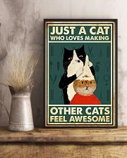 Just a cat who loves making 11x17 Poster lifestyle-poster-3