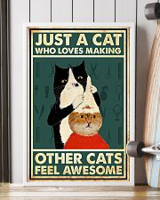 Just a cat who loves making 11x17 Poster lifestyle-poster-4