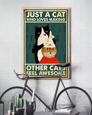 Just a cat who loves making 11x17 Poster lifestyle-poster-7