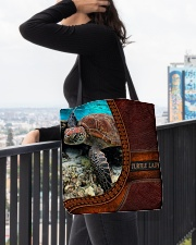 Turtle lady All-Over Tote All-over Tote aos-all-over-tote-lifestyle-front-05