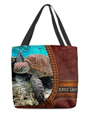 Turtle lady All-Over Tote All-over Tote back