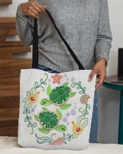 Turtle lady All-Over Tote All-over Tote aos-all-over-tote-lifestyle-front-10
