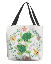 Turtle lady All-Over Tote All-over Tote front