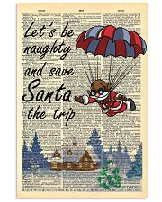 Let is be naughty an save santa the trip 11x17 Poster front