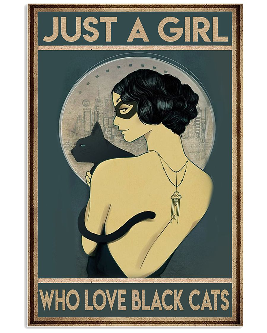 just a girl who love black cat 11x17 Poster
