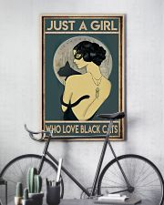 just a girl who love black cat 11x17 Poster lifestyle-poster-7
