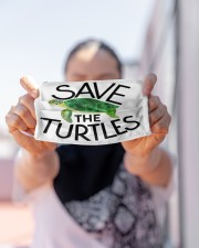 Save the turtles Cloth face mask aos-face-mask-lifestyle-07