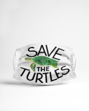 Save the turtles Cloth face mask aos-face-mask-lifestyle-22