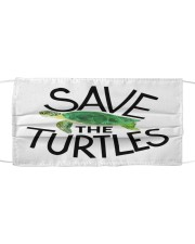 Save the turtles Cloth face mask front